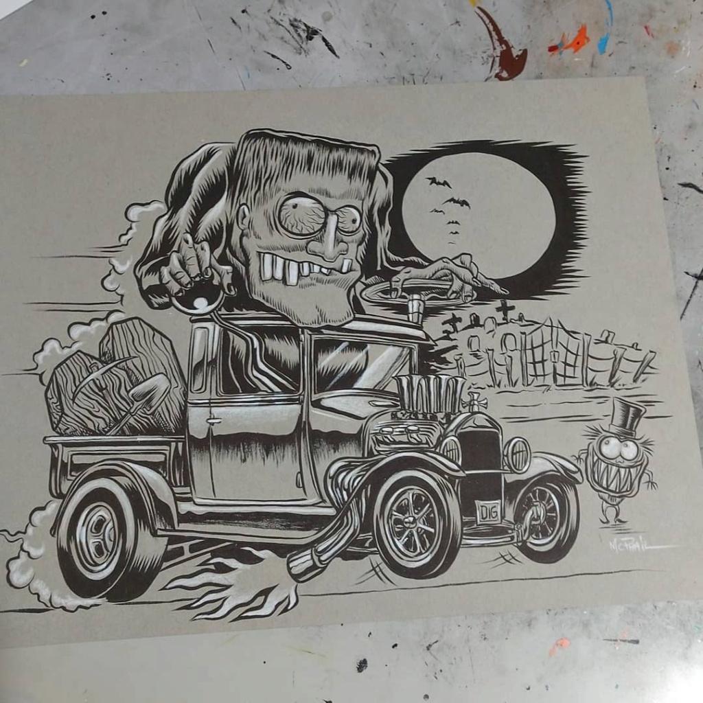 Dennis McPhail - artist kustom and hot rod kulture - Old school Tattoo 12096010