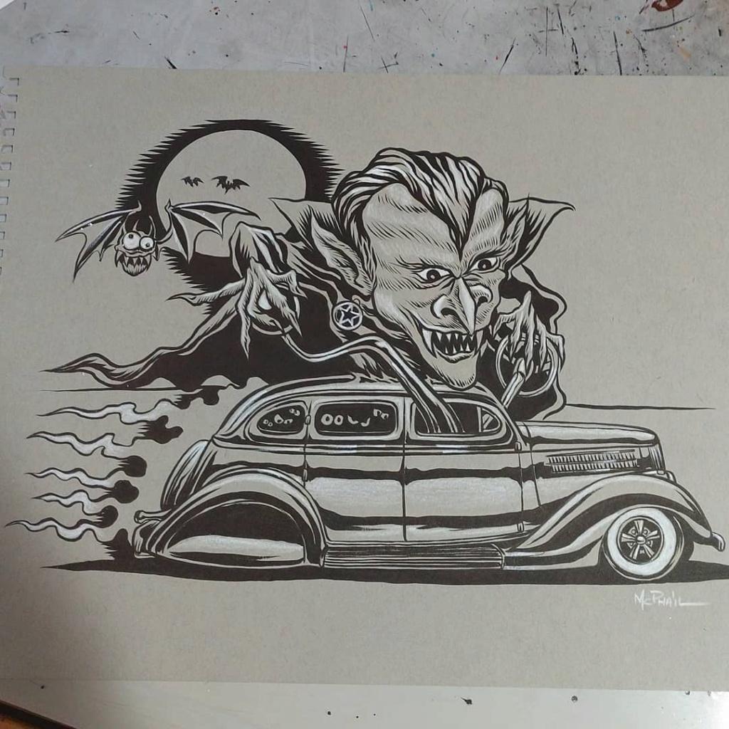 Dennis McPhail - artist kustom and hot rod kulture - Old school Tattoo 12109210