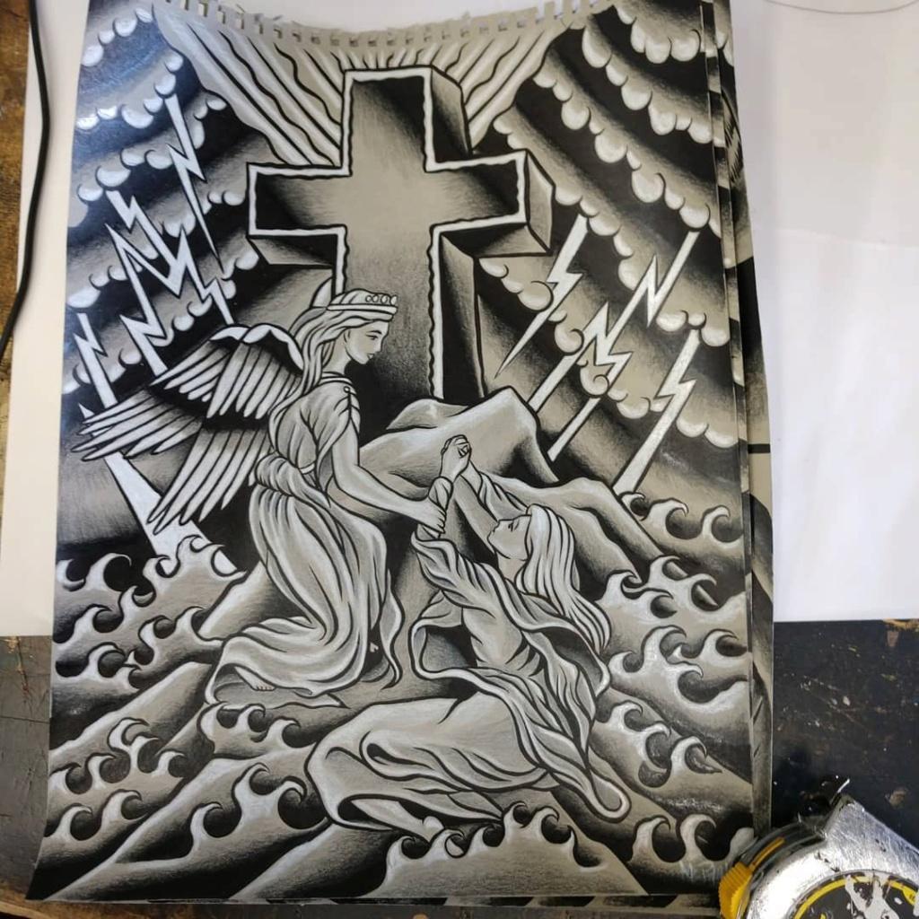 Dennis McPhail - artist kustom and hot rod kulture - Old school Tattoo 12109410
