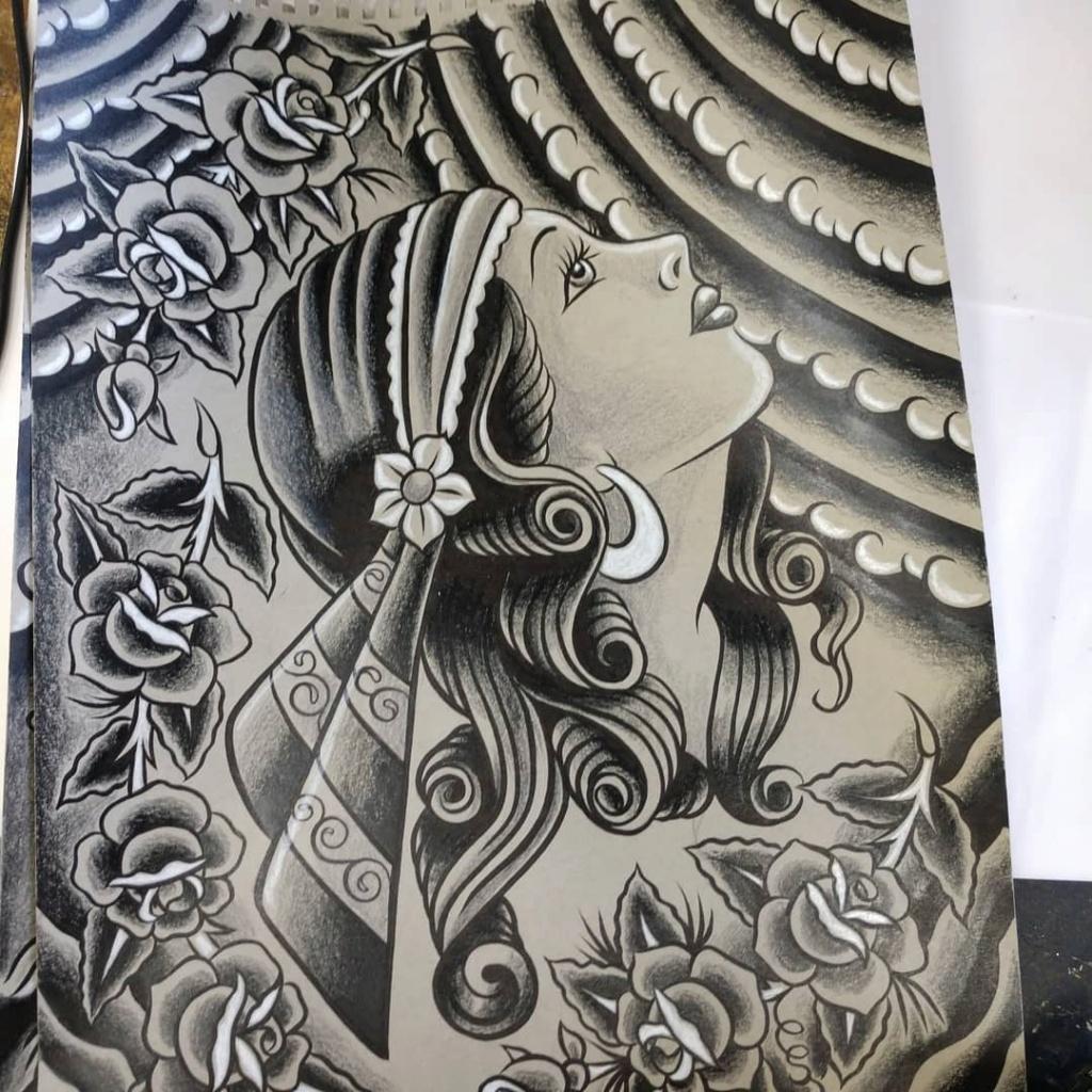 Dennis McPhail - artist kustom and hot rod kulture - Old school Tattoo 12109610