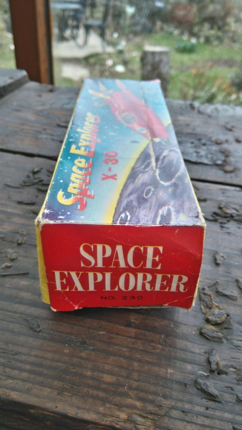 Vintage Friction Toy Space Explorer X-30  1950's 1211