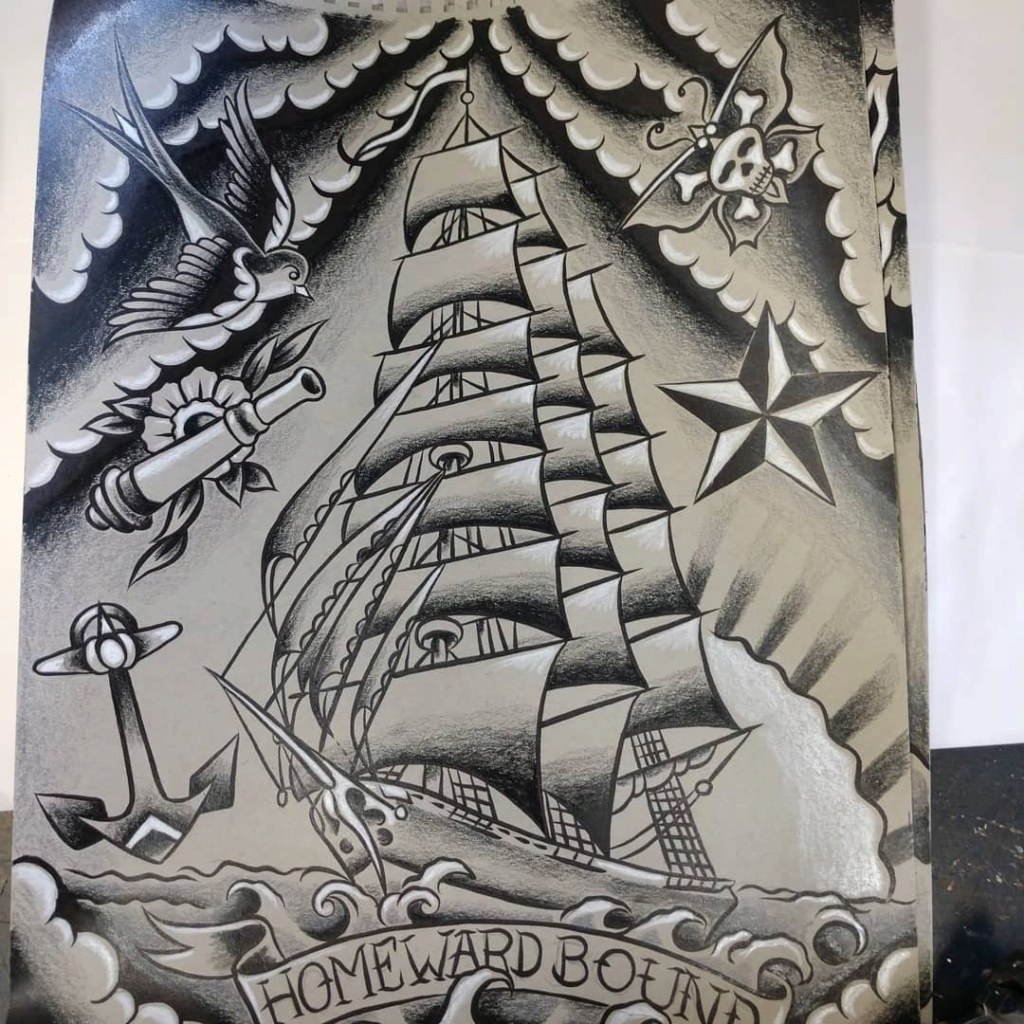 Dennis McPhail - artist kustom and hot rod kulture - Old school Tattoo 12116110