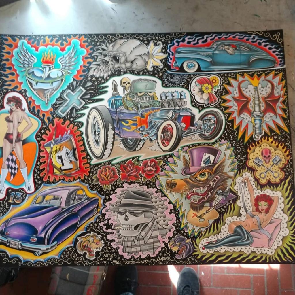 Dennis McPhail - artist kustom and hot rod kulture - Old school Tattoo 12128210
