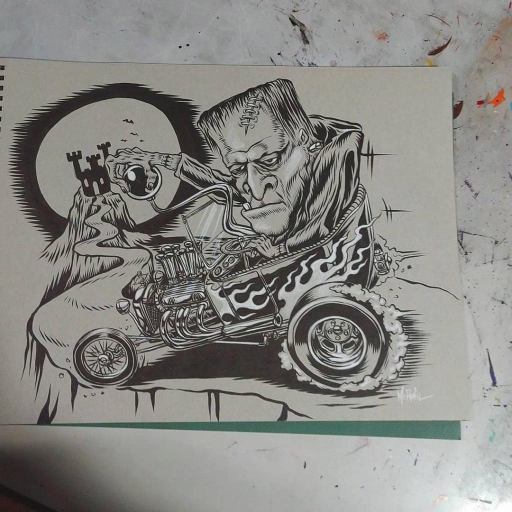 Dennis McPhail - artist kustom and hot rod kulture - Old school Tattoo 12142910