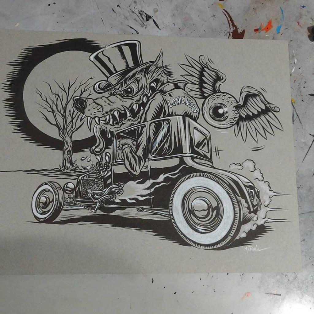 Dennis McPhail - artist kustom and hot rod kulture - Old school Tattoo 12169410