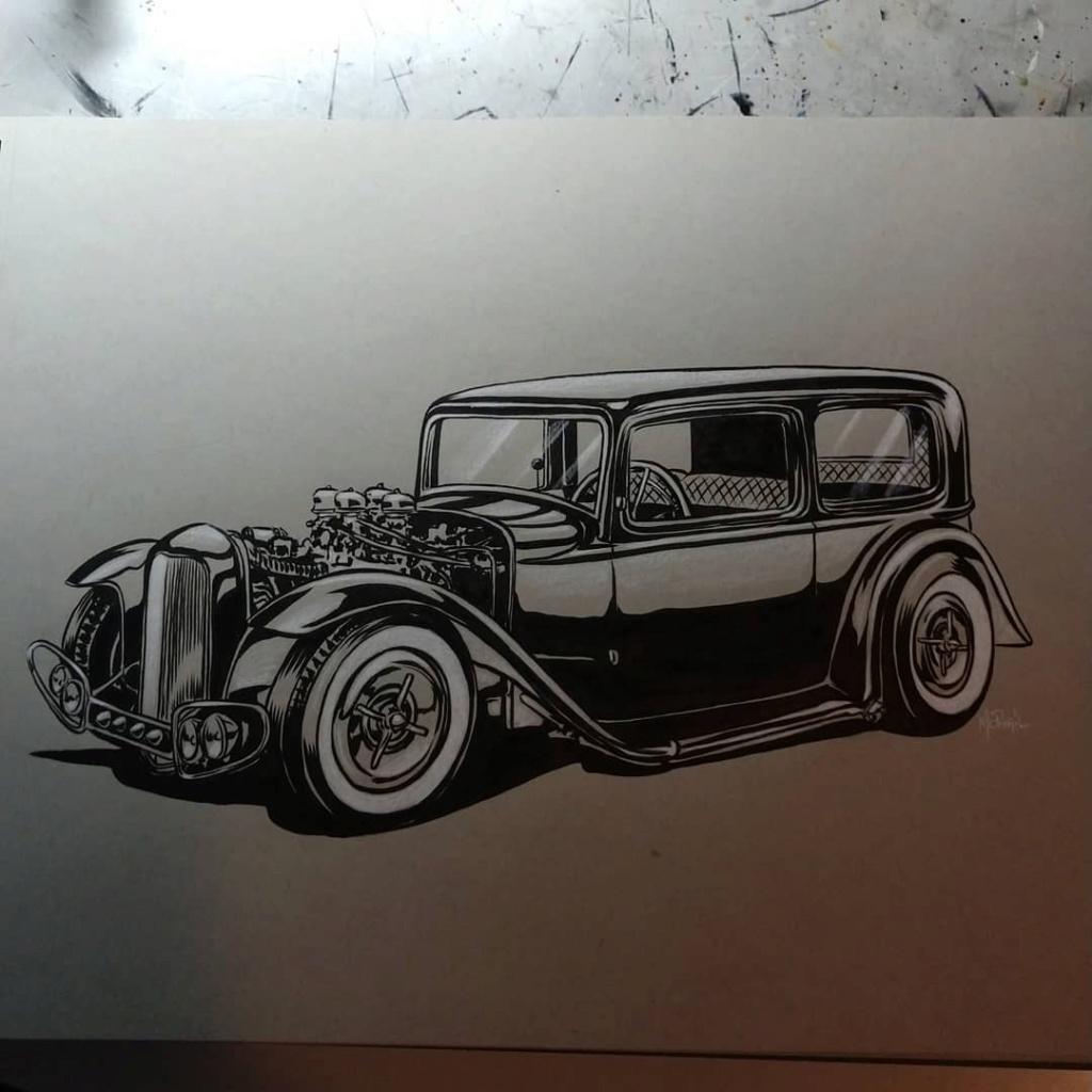 Dennis McPhail - artist kustom and hot rod kulture - Old school Tattoo 12205910