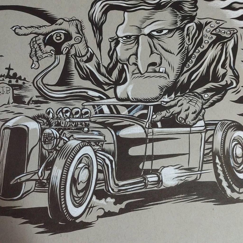 Dennis McPhail - artist kustom and hot rod kulture - Old school Tattoo 12209210