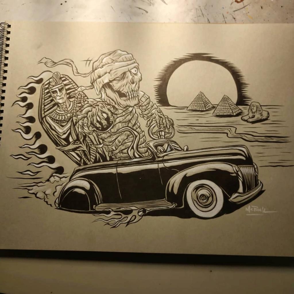 Dennis McPhail - artist kustom and hot rod kulture - Old school Tattoo 12216110