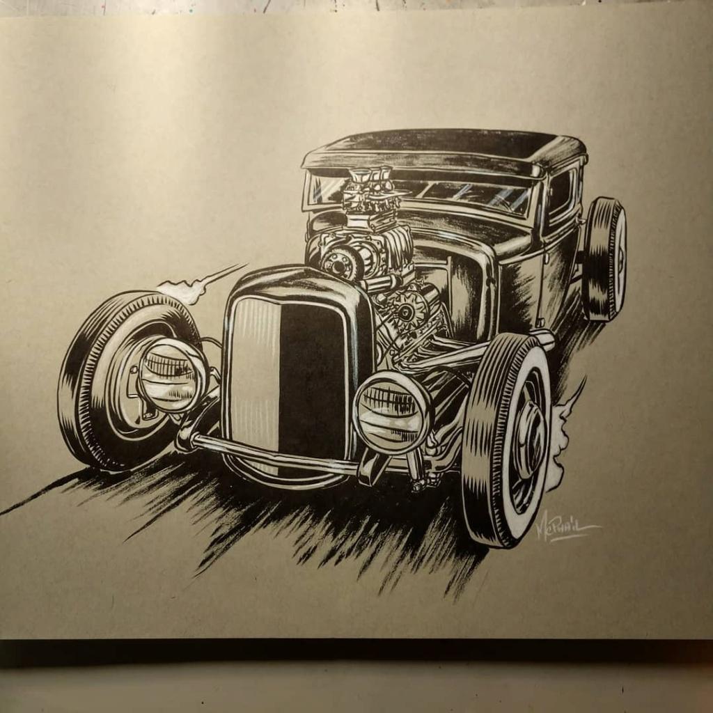 Dennis McPhail - artist kustom and hot rod kulture - Old school Tattoo 12233610