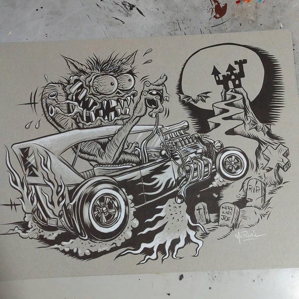 Dennis McPhail - artist kustom and hot rod kulture - Old school Tattoo 12247910