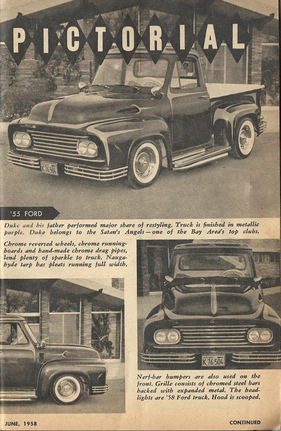 Car Craft - Special Pick Up June 1959 - Pick up Pictorial 1327