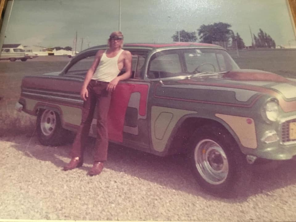 '55 Chevy Gasser Street machine- early seventies style low rider style sortie d'une casse  13335810