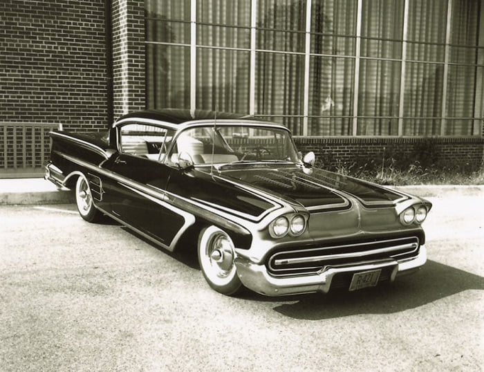custom cars in the street - in situation ( vintage pics 1950's & 1960's)  - Page 6 13414810