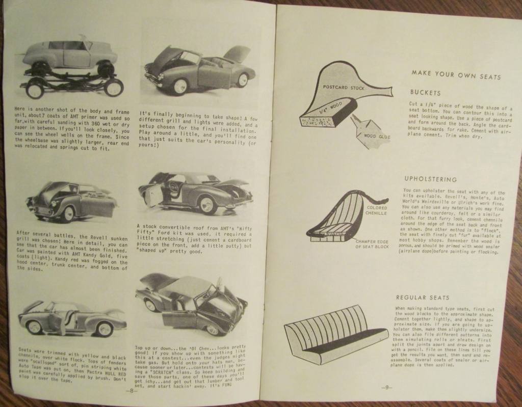 Building Customs From wood and scrap parts - Another Auto World Handbook - plans for 49 chevy, 55 ford and 58 chevy   13500710