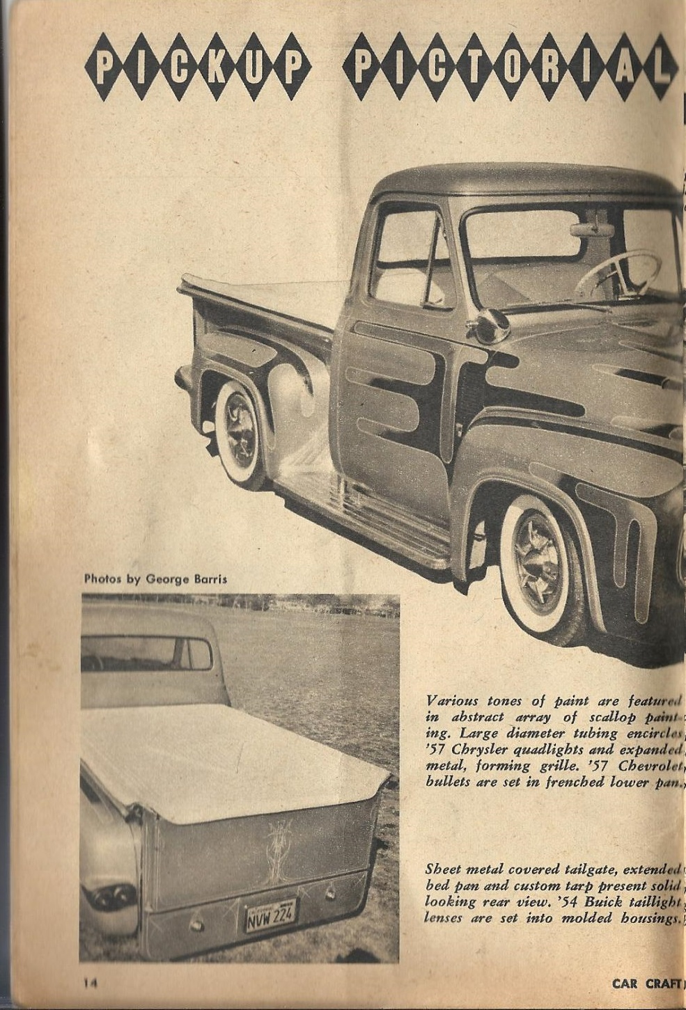 Car Craft - Special Pick Up June 1959 - Pick up Pictorial 1424