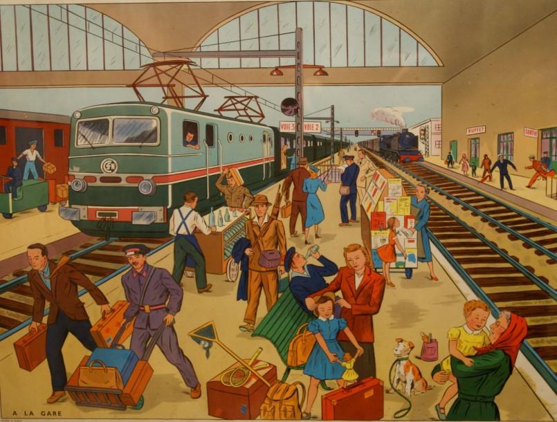 Affiches (tableaux)  pédagogiques Editions Rossignol 1946 - 1970s 14610