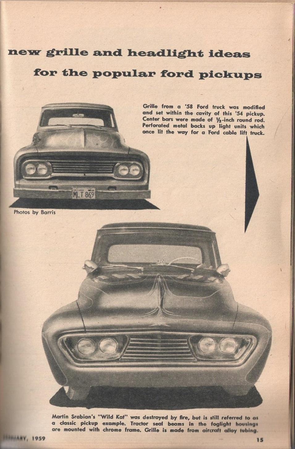 Rod et Custom - January 1959 - Tricks for Trucks - new ideas for pick up 1524