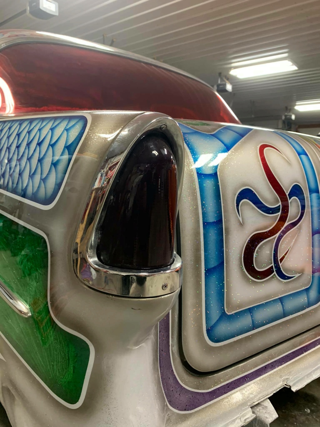 Ronnie N Kristina Jones - 1955 Chevrolet Gasser sixties look with flake, panneling, lace painting 15738610