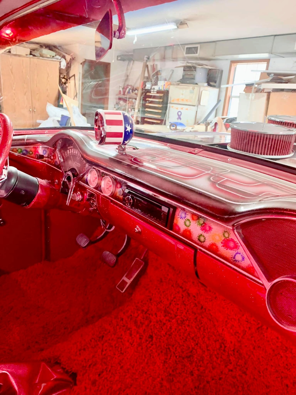 Ronnie N Kristina Jones - 1955 Chevrolet Gasser sixties look with flake, panneling, lace painting 15746810