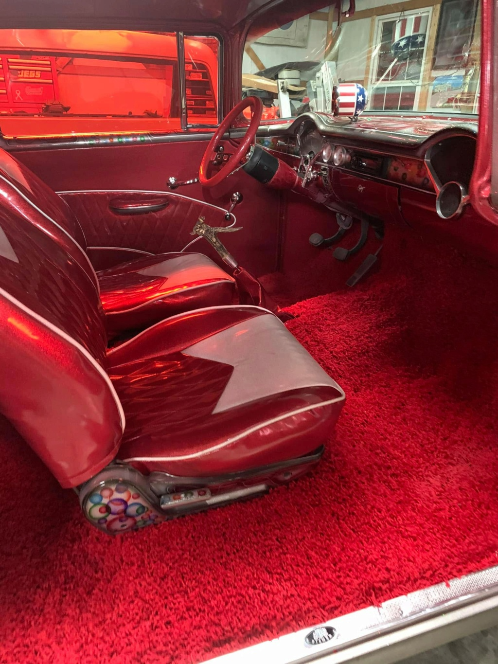 Ronnie N Kristina Jones - 1955 Chevrolet Gasser sixties look with flake, panneling, lace painting 15765010
