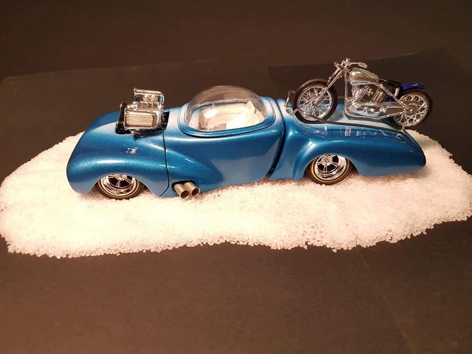 Lil bike hauler with bubble top 1940  Ford coupe amt by Lee Goode 16950010