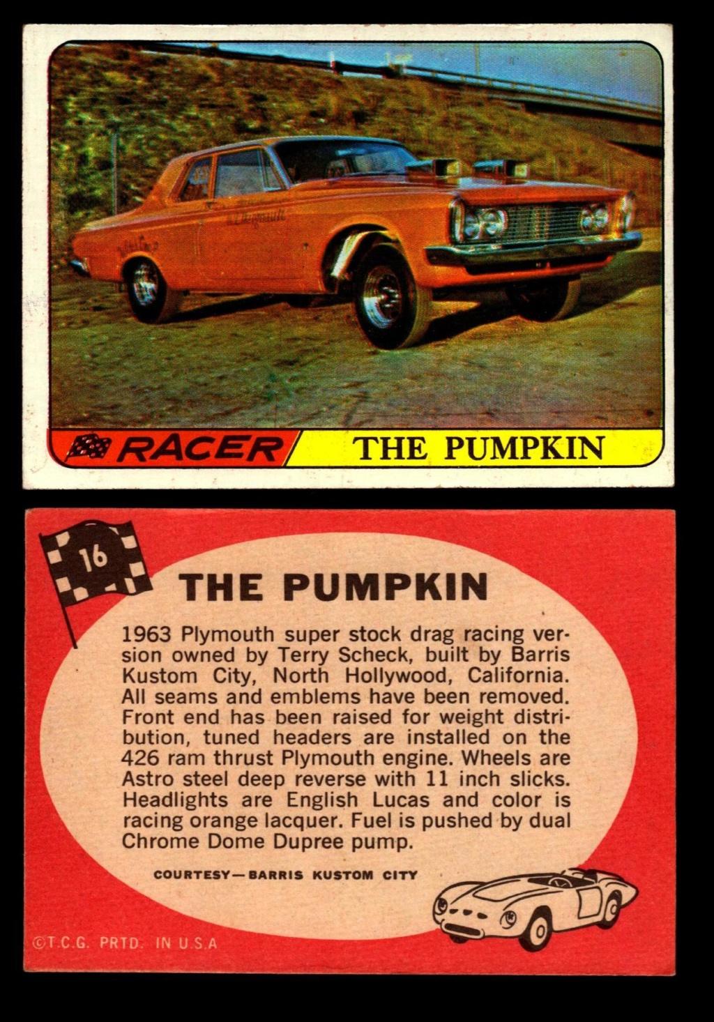 Hot Rods Topps - Vintage Trading Cards 1968 - Custom car - Dragster - Racer - Dream car - Barris Kustom City - Ed Roth Darrill Starbird, Gene Winfield, Bill Cuchenberry 16_7e210