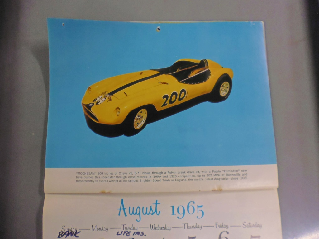 1 st Annual Speed Custom and Hot Rod 1965 calendar 17126511
