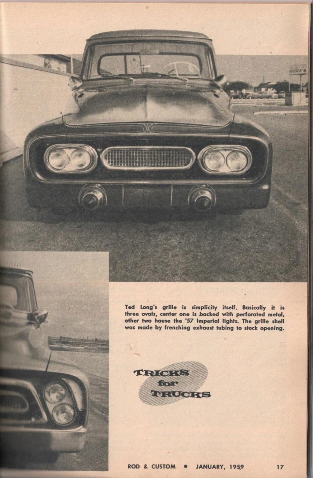 Rod et Custom - January 1959 - Tricks for Trucks - new ideas for pick up 1722