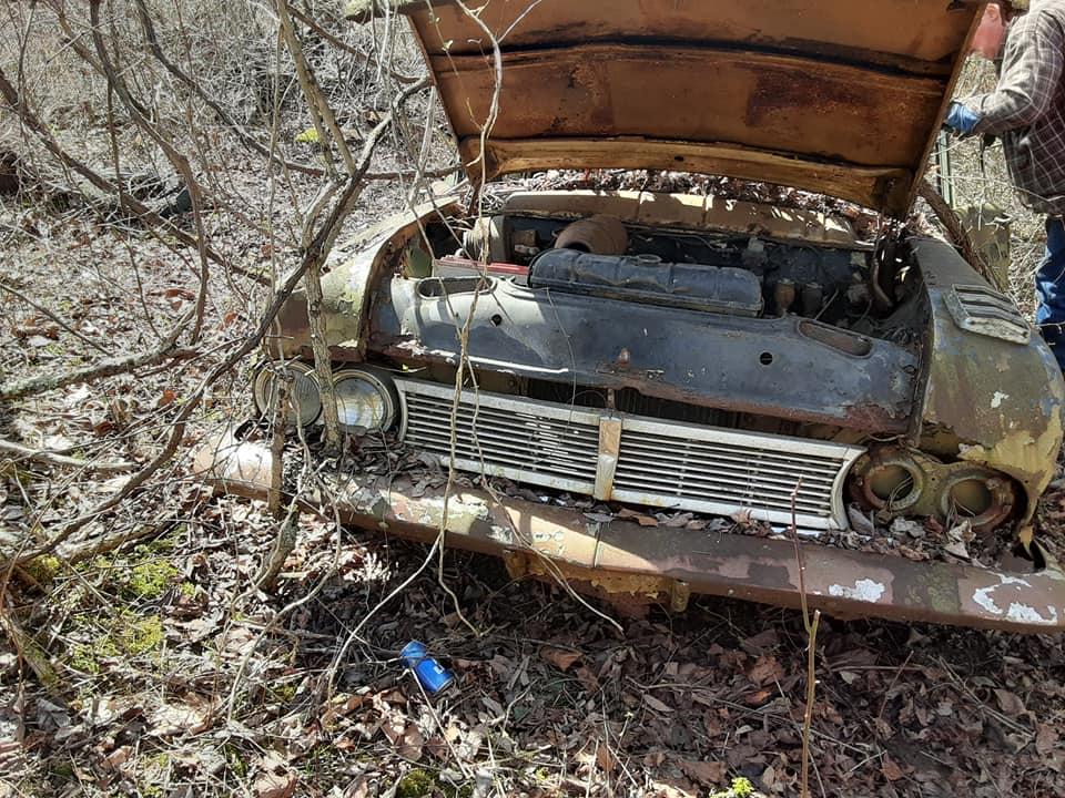 1957 Ford custom with jaguar engine junkyard 17806910