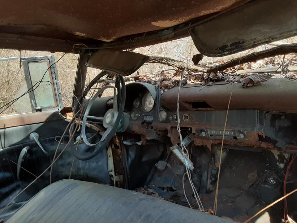 1957 Ford custom with jaguar engine junkyard 17833510