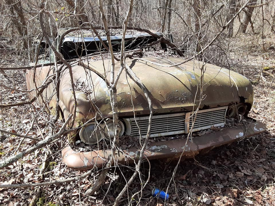 1957 Ford custom with jaguar engine junkyard 17844110