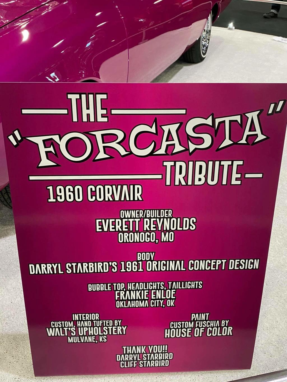 Forcasta tribute - Owner Builder Everett Reynolds _ original concept design Darrill Starbird 1961 - Chevrolet Corvair 1960 17936810