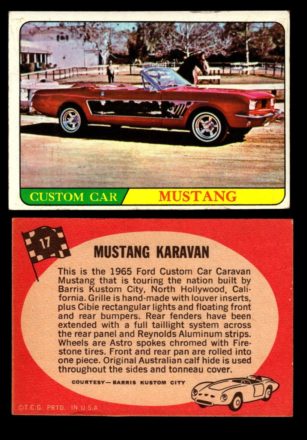 Hot Rods Topps - Vintage Trading Cards 1968 - Custom car - Dragster - Racer - Dream car - Barris Kustom City - Ed Roth Darrill Starbird, Gene Winfield, Bill Cuchenberry 17_eb810