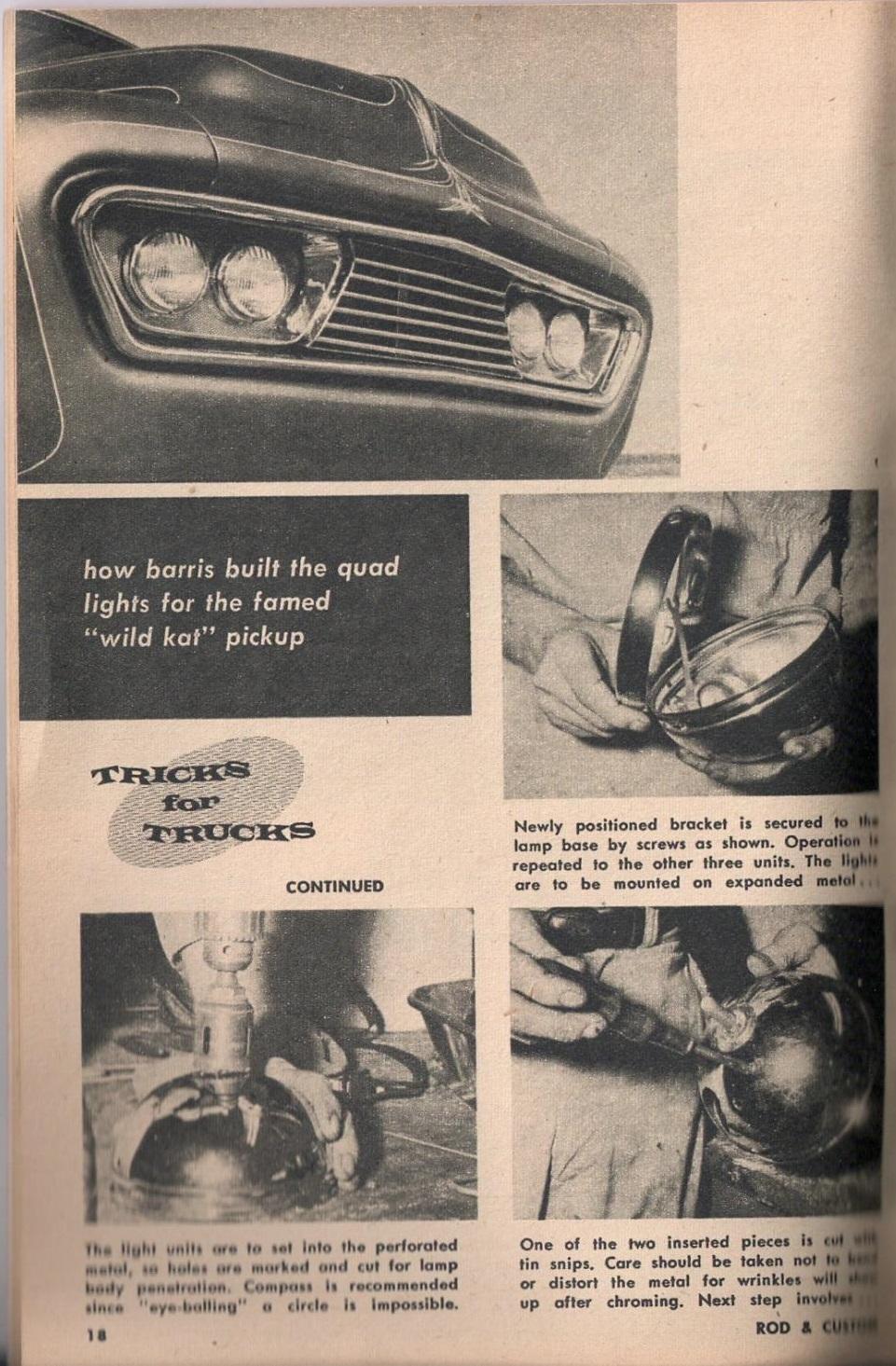 Rod et Custom - January 1959 - Tricks for Trucks - new ideas for pick up 1822