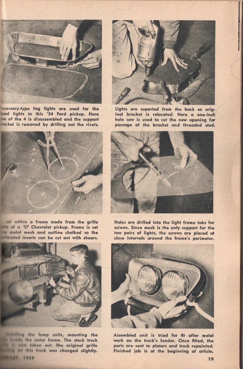 Rod et Custom - January 1959 - Tricks for Trucks - new ideas for pick up 1920