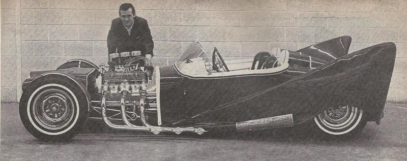 John Burnes, The Manta Ray - 32 Ford radical show rod Bat - Toronto, Ont. Car Craft, Jul 1963 19394810