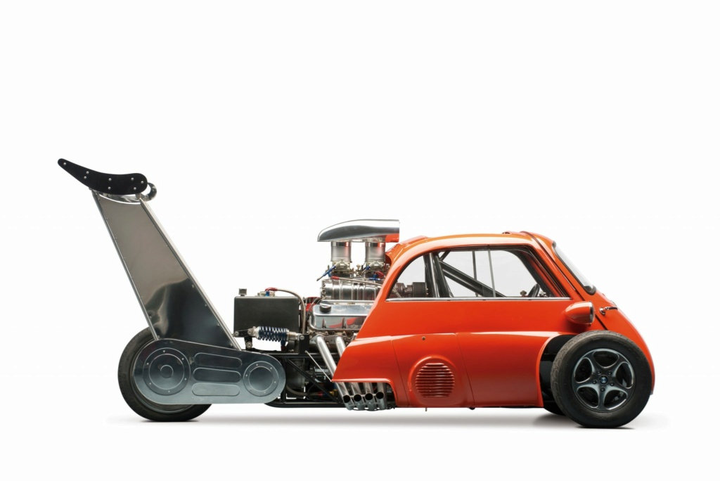 1959 Bmw Isetta Dragster - Whatta Drag - Chevy V8 Powered - Real Hot Wheels 1959-b10