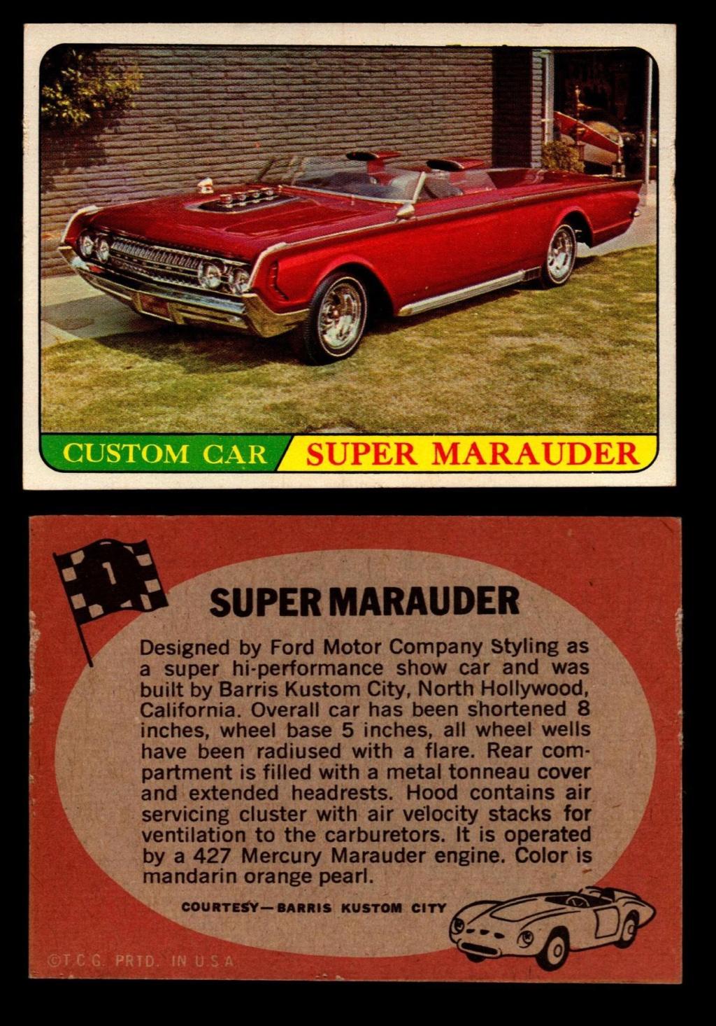 Hot Rods Topps - Vintage Trading Cards 1968 - Custom car - Dragster - Racer - Dream car - Barris Kustom City - Ed Roth Darrill Starbird, Gene Winfield, Bill Cuchenberry 1_236512