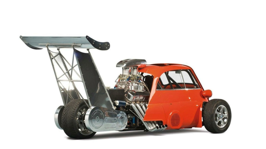 1959 Bmw Isetta Dragster - Whatta Drag - Chevy V8 Powered - Real Hot Wheels 2013-310
