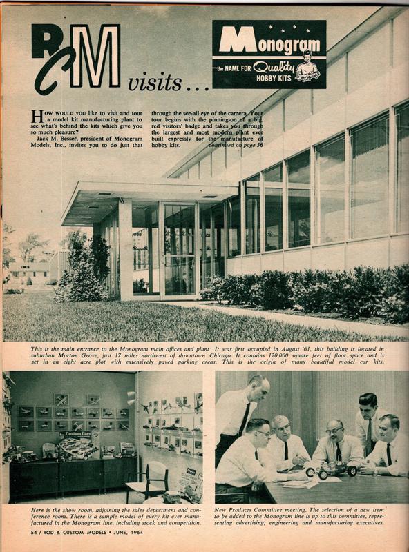 Rod and Custom Magazine Visit Monogram - June 1964 20223810