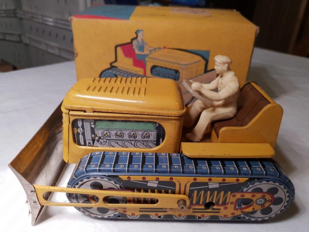MEMO Bulldozer - jouet tole - Tin Toys - Made in France 2114