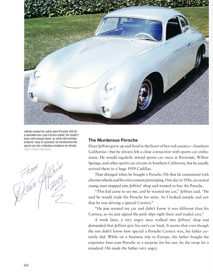 1956 Porsche 356 A Carrera GS - Dean Jeffries 2217