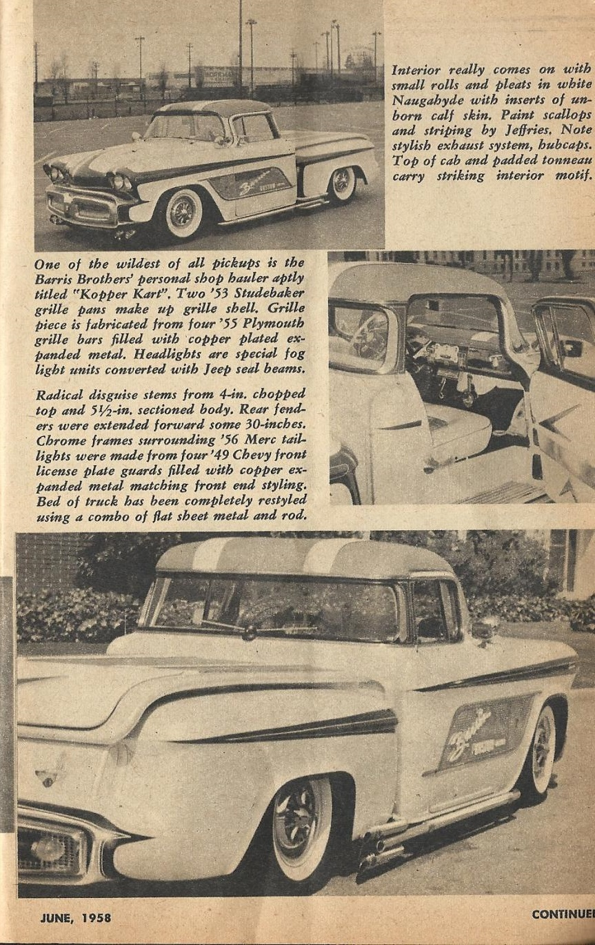 Car Craft - Special Pick Up June 1959 - Pick up Pictorial 2317