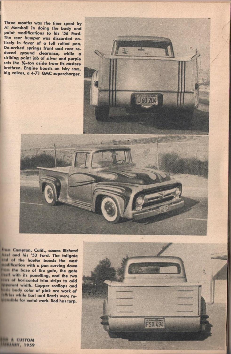 Rod et Custom - January 1959 - Tricks for Trucks - new ideas for pick up 2318
