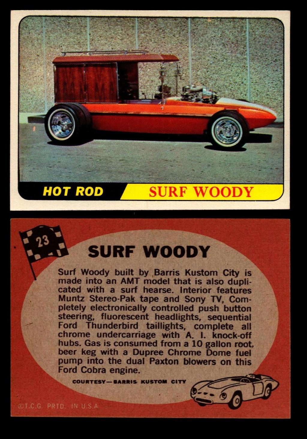 Hot Rods Topps - Vintage Trading Cards 1968 - Custom car - Dragster - Racer - Dream car - Barris Kustom City - Ed Roth Darrill Starbird, Gene Winfield, Bill Cuchenberry 23_e4c10