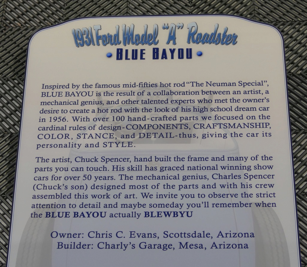 1931 Ford Model A Roadster - Blue Bayou - Chuck Spencer 24139410