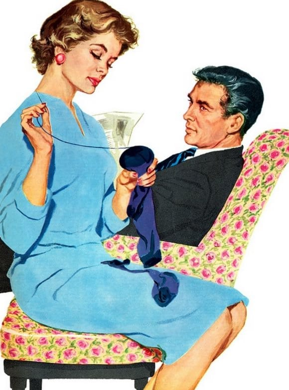 """Mai 1955, Housekeeping Monthly a publié un article intitulé """"Le Guide De La Bonne Épouse"""" 24710"""