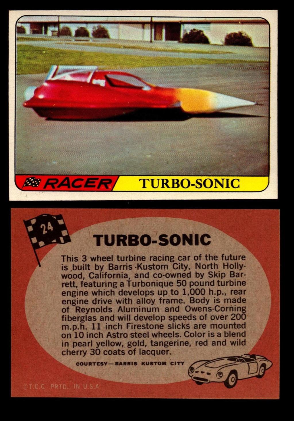 Hot Rods Topps - Vintage Trading Cards 1968 - Custom car - Dragster - Racer - Dream car - Barris Kustom City - Ed Roth Darrill Starbird, Gene Winfield, Bill Cuchenberry 24_af410