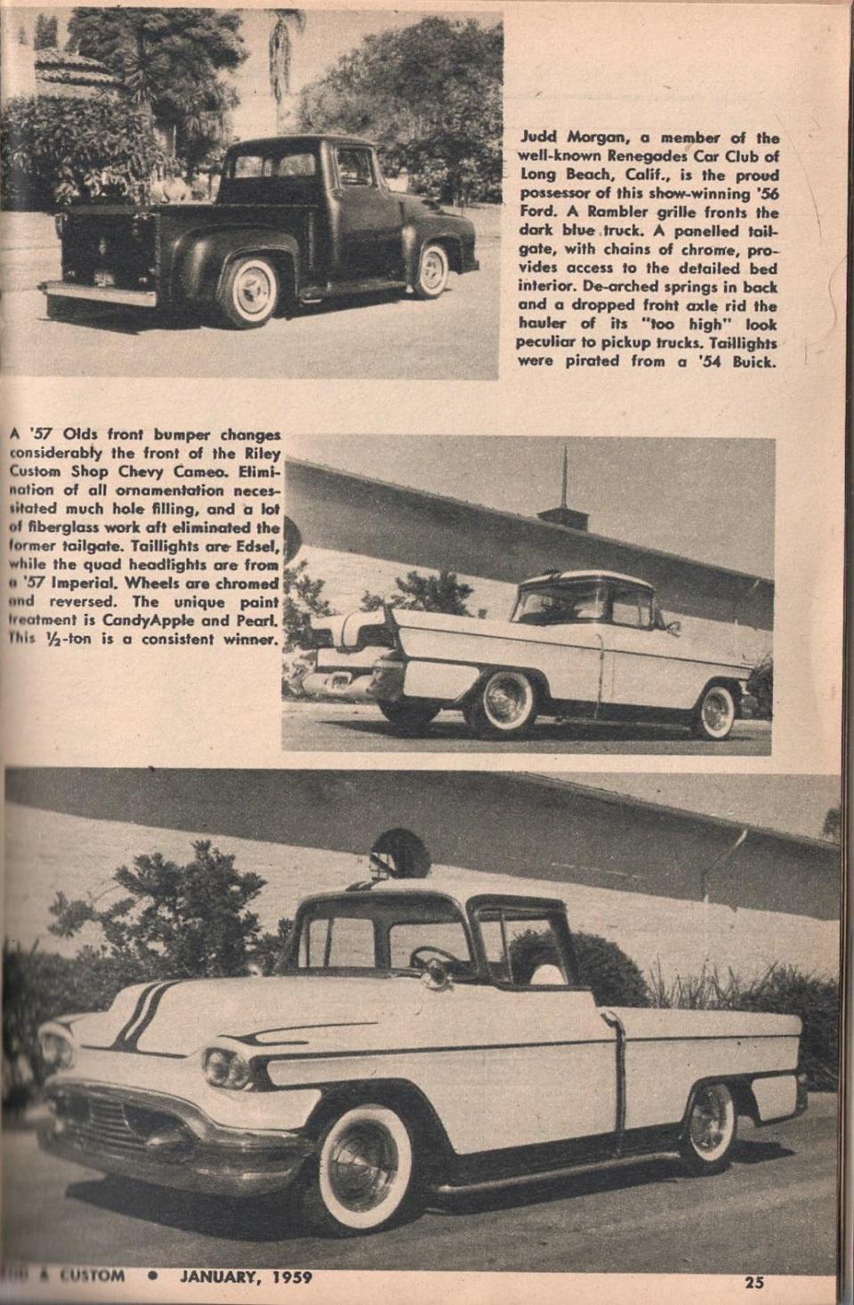 Rod et Custom - January 1959 - Tricks for Trucks - new ideas for pick up 2516