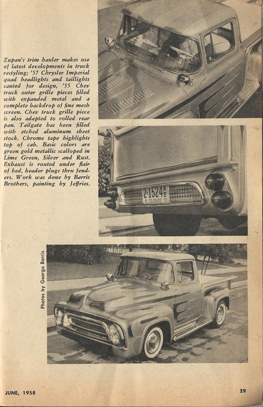 Car Craft - Special Pick Up June 1959 - Pick up Pictorial 2917